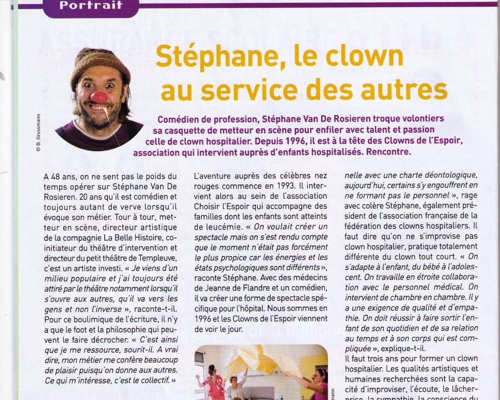 Stéphane,le clown au services des autres