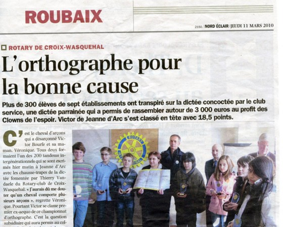 L'orthographe pour la bonne cause / 2010