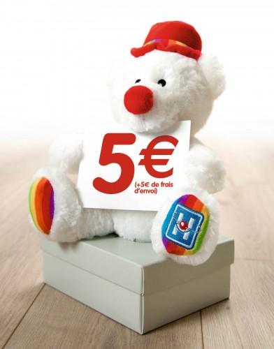 N'hésitez plus, offrez ou offrez vous ou faites vous offrir l'ourson des Clowns de l'Espoir! A vendre contre bons soins pour la somme de 5€.