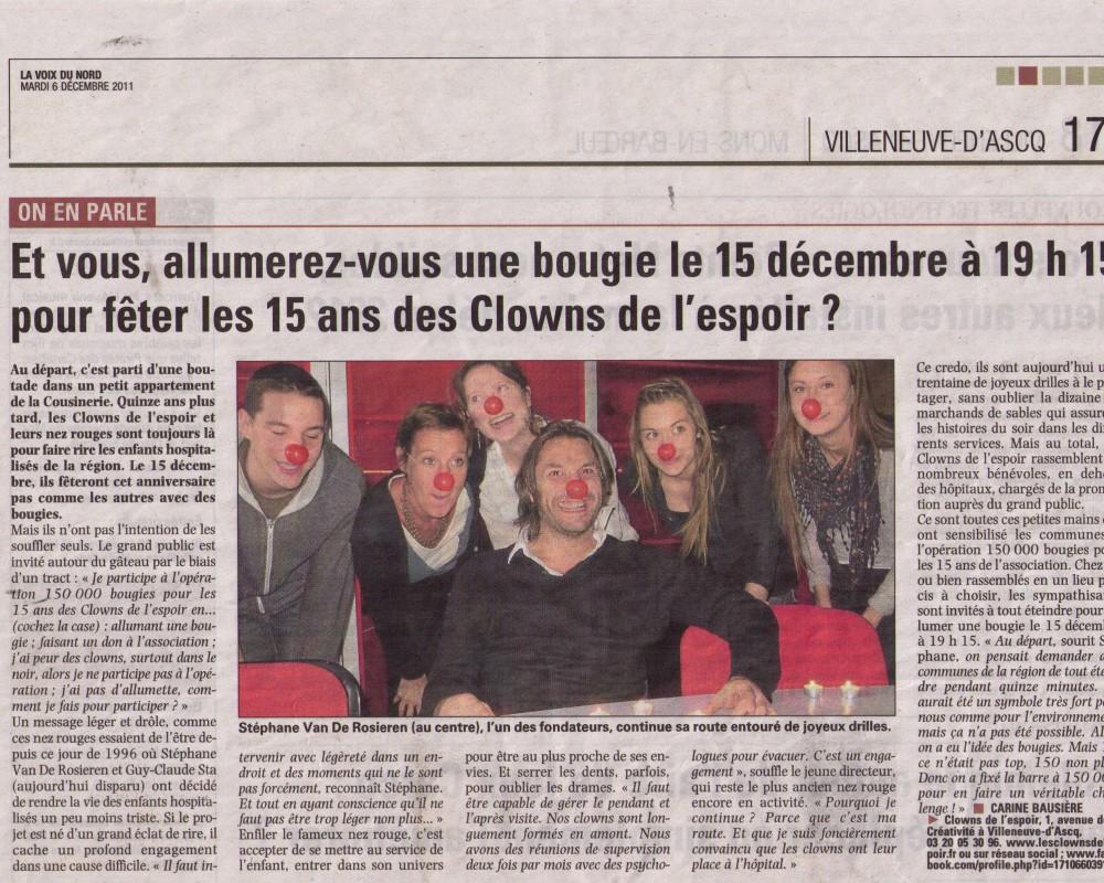On en parle des 15 ans, des Clowns de l'espoir / 2011
