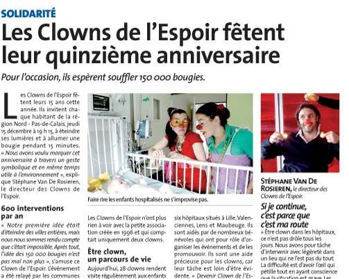 Les Clowns de l'Espoir fêtent leur quinzième anniversaire / 2011