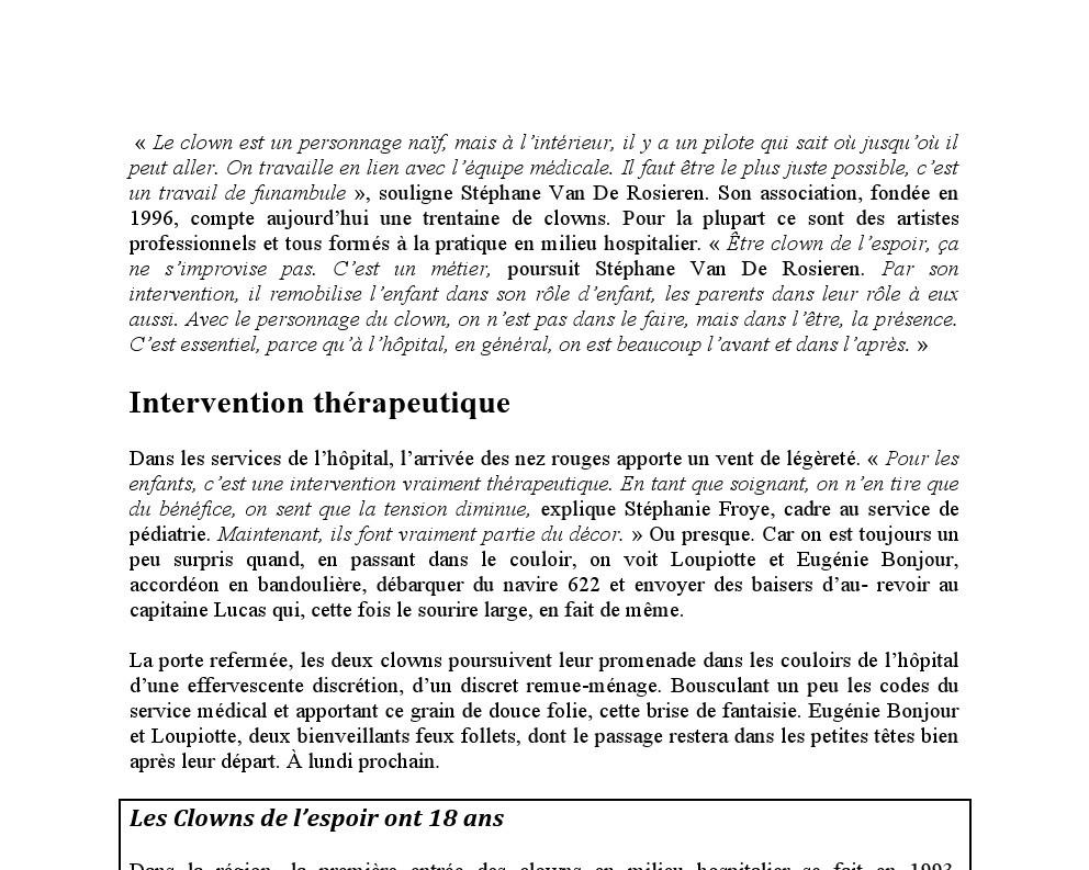 Revue de presse Calais / 2014