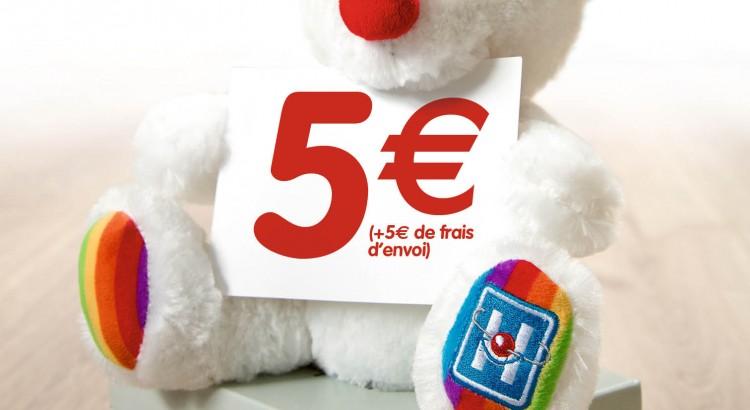 N'hésitez plus, offrez ou offrez vous ou faites vous offrir l'ourson des Clowns de l'Espoir !  A vendre contre bons soins pour la somme de 5€.